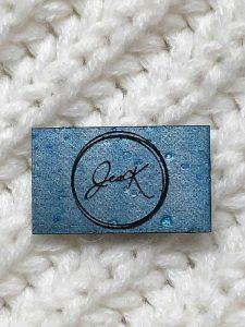 Étiquette de liège gravée de forme rectangulaire